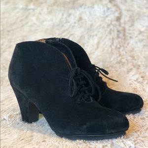 L'amourDesPieds Florrie Suede Lace-Up Booties